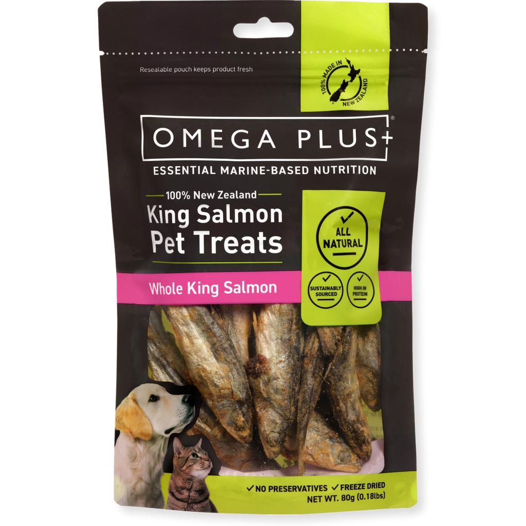 Omega Plus Dog Treats Whole King Salmon 80g