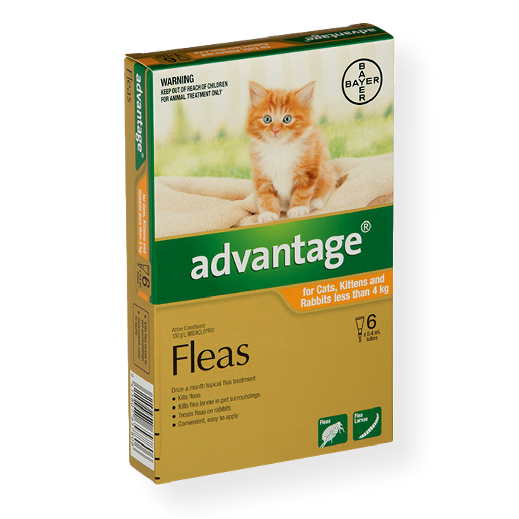 Advantage Spot On Small Cat Flea Treatment 0-4kg