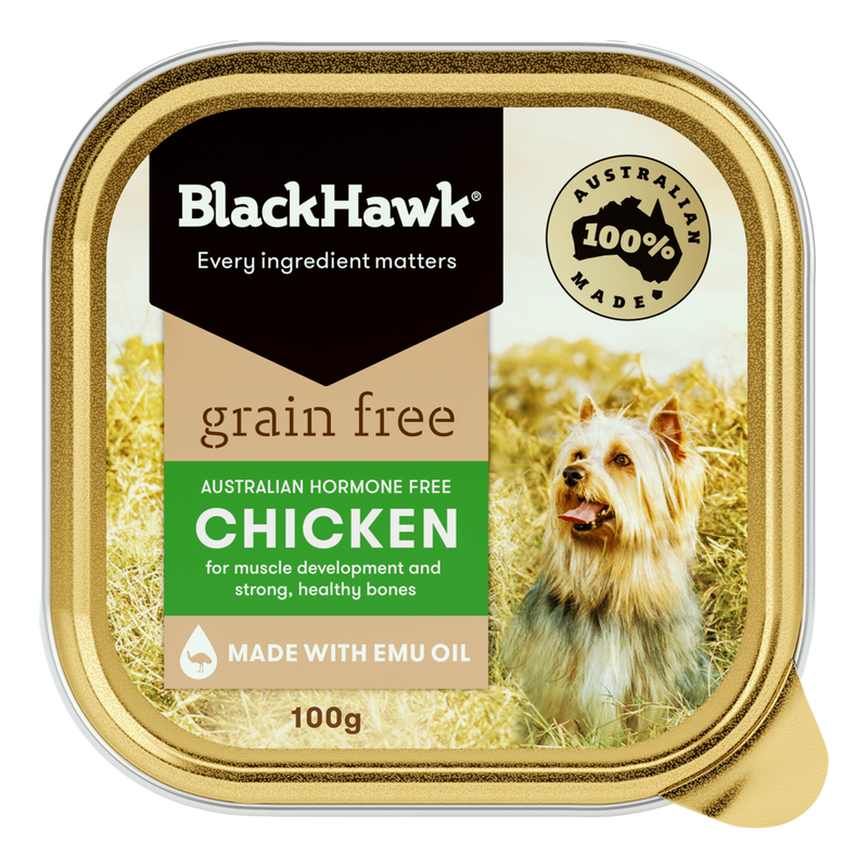Black Hawk Grain Free Chicken Wet Dog Food 100g