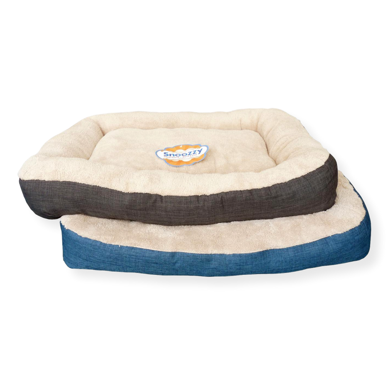 Snoozzy Bumper Pillow Dog Bed