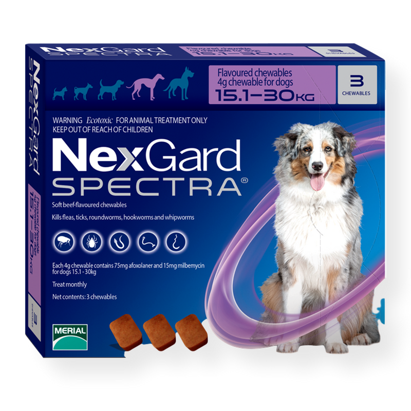 NexGard Spectra Chewable Dog Flea, Tick, & Worm Treatment