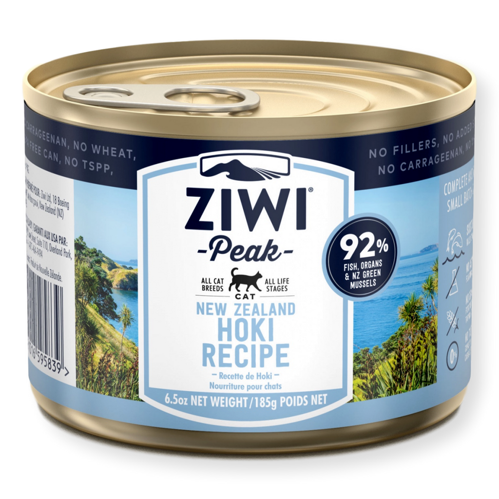 Ziwi Peak Canned Hoki Cat Food 185g
