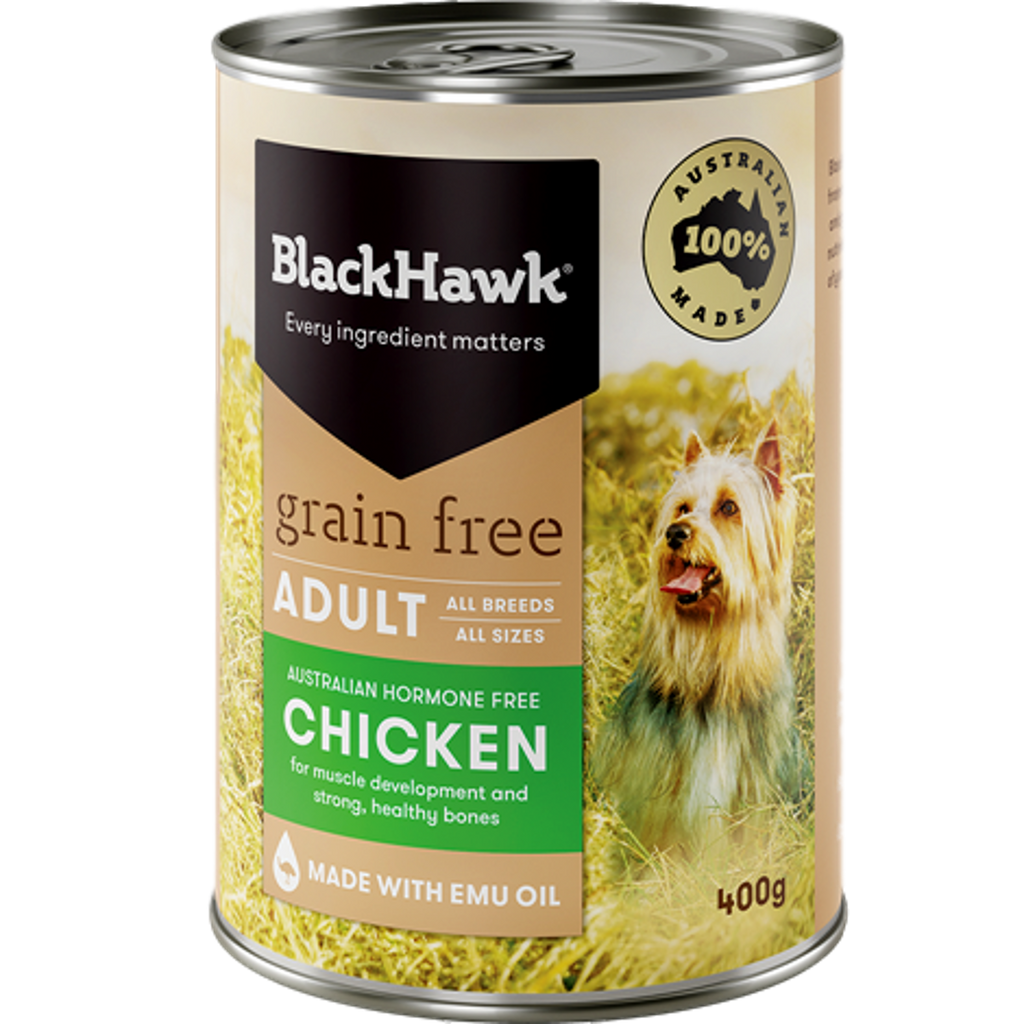 Black Hawk Grain Free Chicken Wet Dog Food 400g