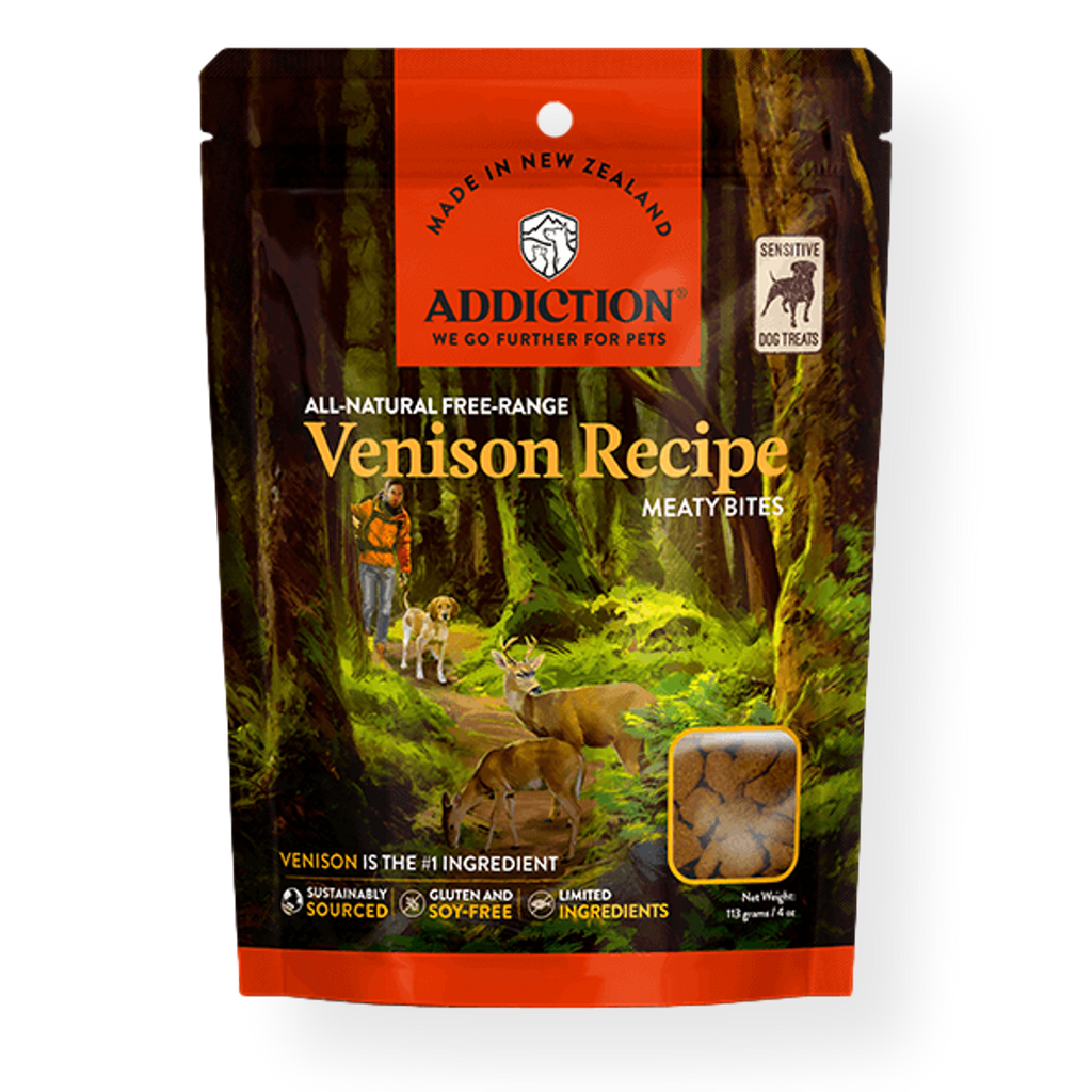 Addiction Venison Meaty Bites Dog Treats