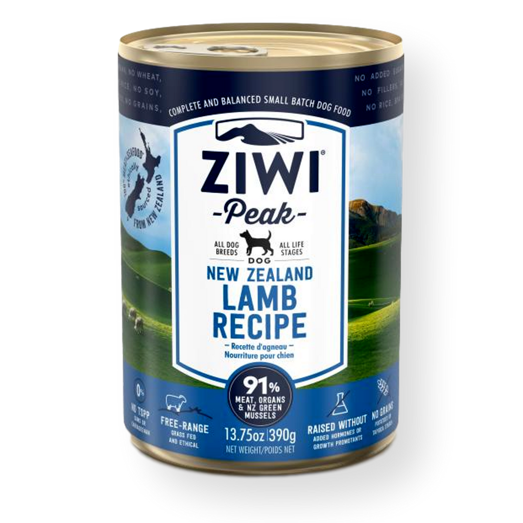 Ziwi Peak Canned Lamb Dog Food 390g