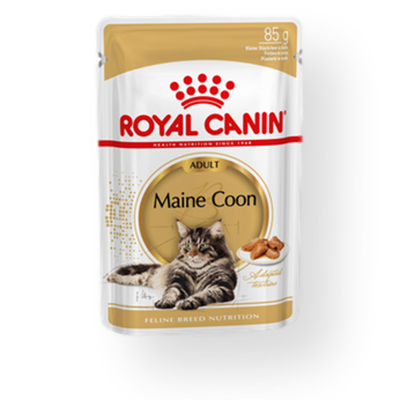 Royal Canin Maine Coon Adult Wet Food 85g pouches 12pack