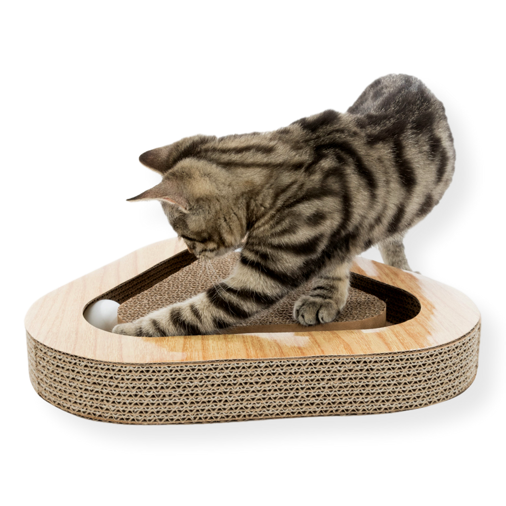 Trixie Catnip Cardboard Scratcher with Balls