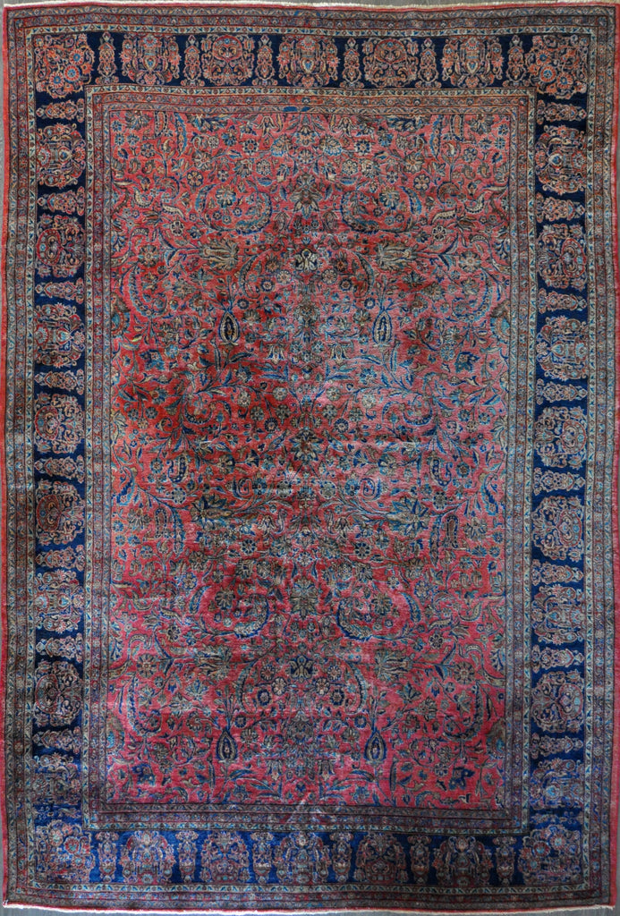 10.0x15.3 antique Manchester kashan #77747