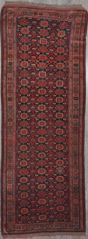 3.9x10 antique persian varamin #43508