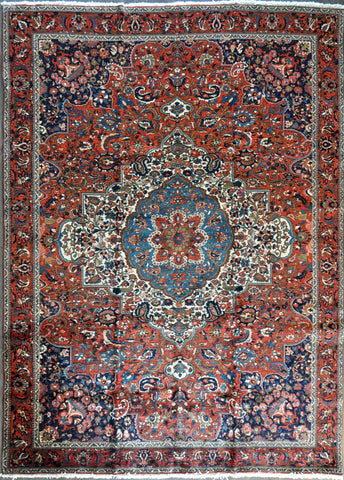 9.6x13.2 antique persian baqtier #74660