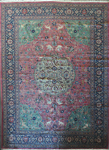 12.6x17.6 antique tabriz #46983