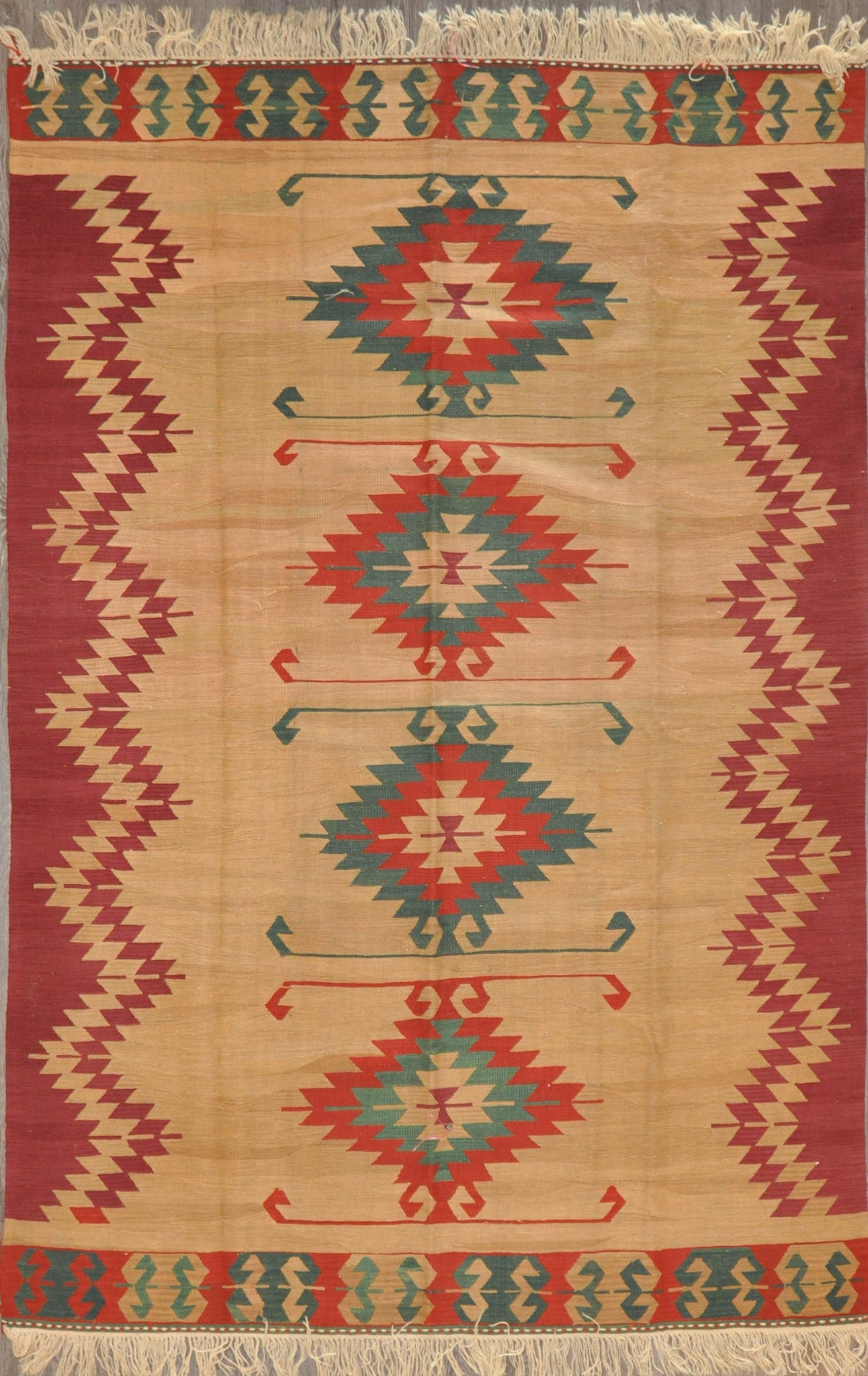 6.5x9.9 turkish kilim #23404