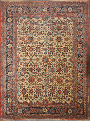 10.1x13.3 antique tabriz haidarzadeh #44413