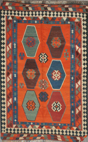 4.8x7.2 Antique Shiraz kilim #82152