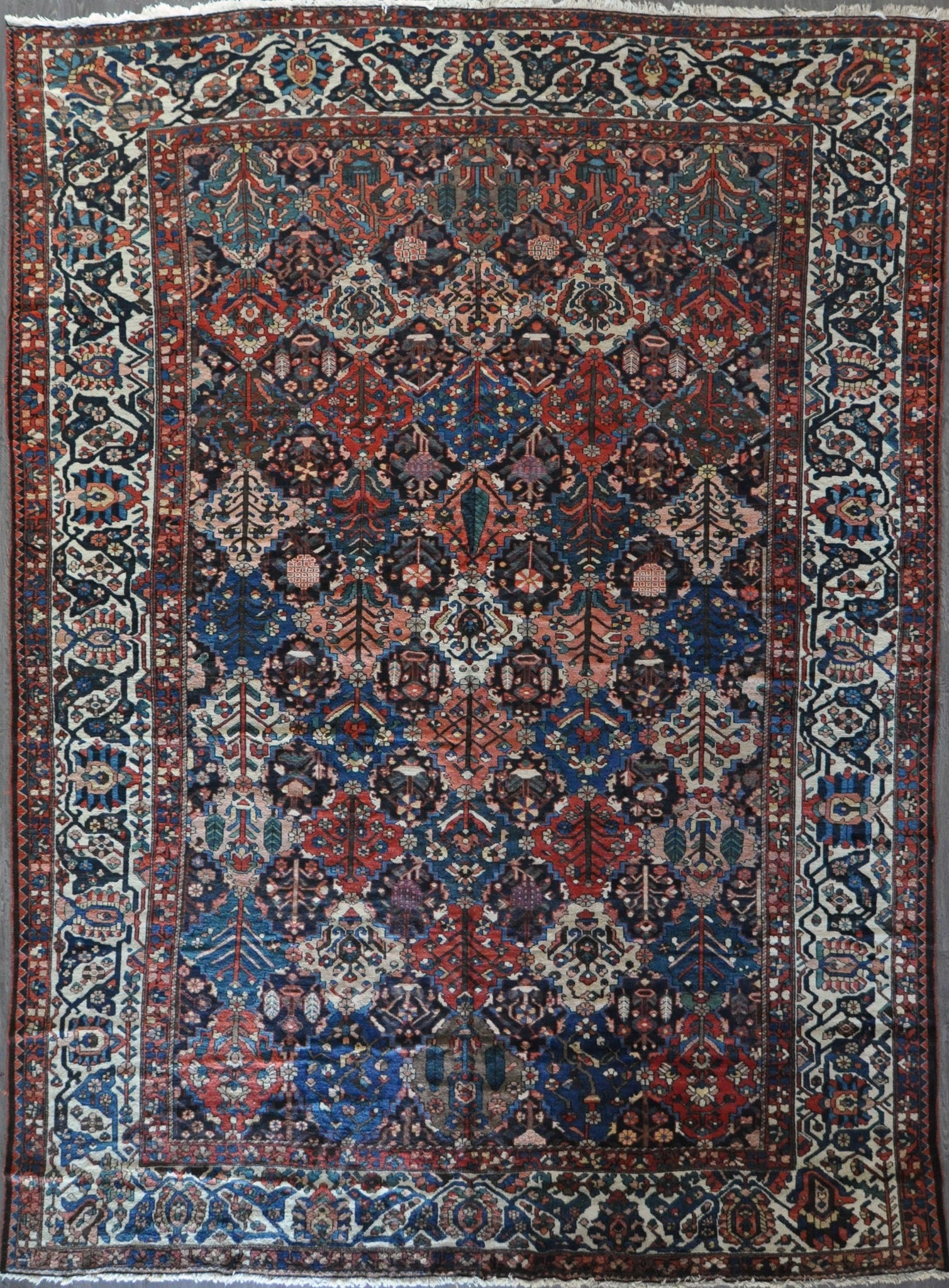 11.6x16.0 antique persian bakhtiari #89195
