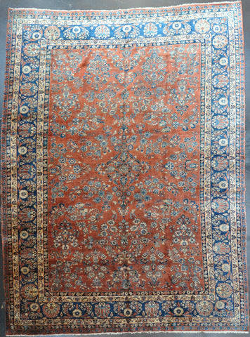 11x14.6  Antique Sarouk Mohajeran #12493