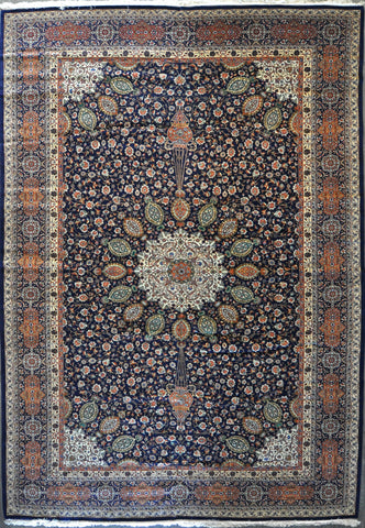 11.7x16.5 antique tabriz 60 Raj ws #77498