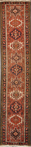 2.4x11.0 Persian heriz runner #52317