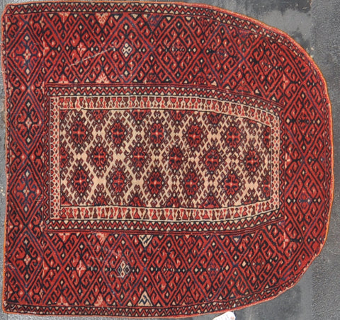 3.2x3.3 Antique antique turkman Horse blanket wool #60468