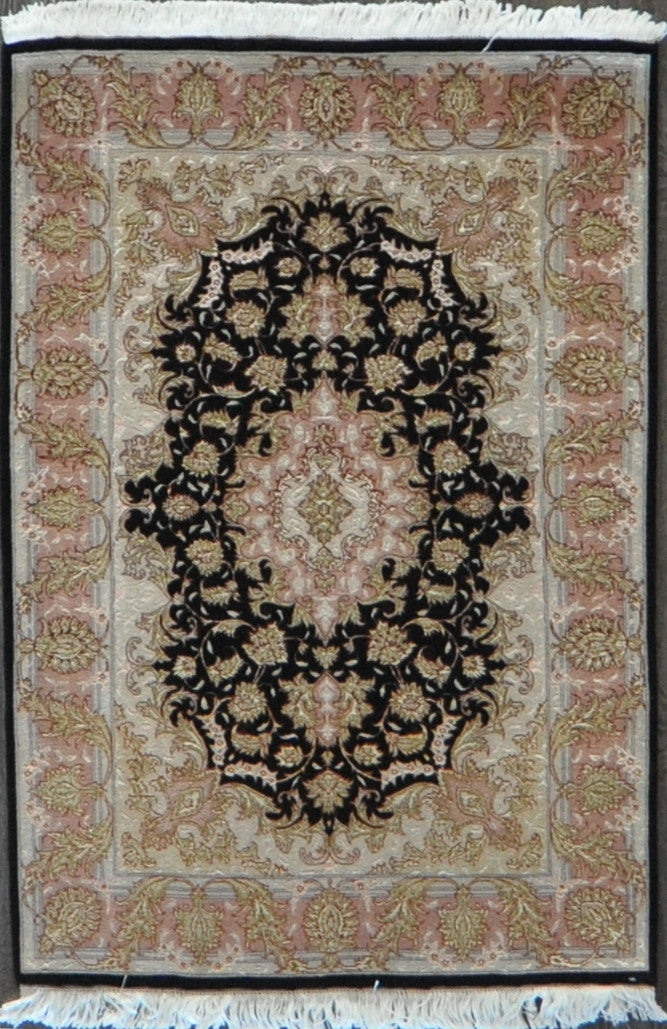 persian tabriz 50Raj wool silk 3.5x5.0 #61213