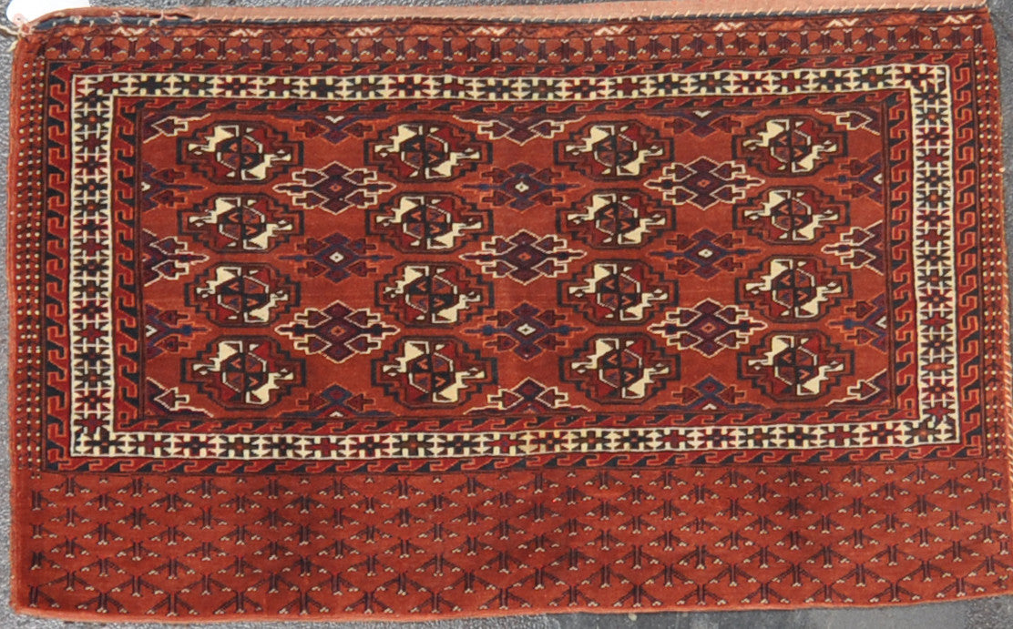 2.5x3.11 antique turkman wool #39506