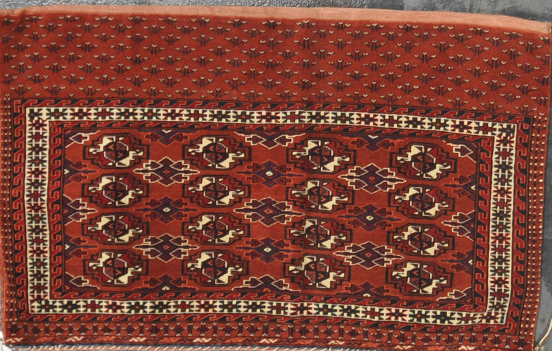 2.5x3.11 antique Persian turkman wool #14584