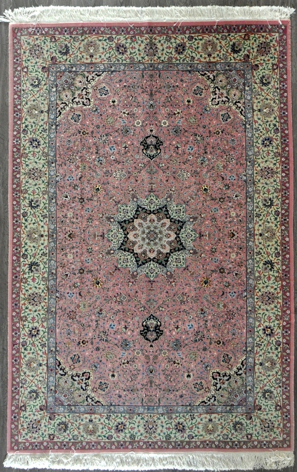 5.6x9.1 persian tabriz wool silk 80 Raj #22612