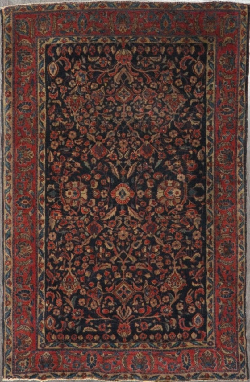 4.1x6.7 antique Persian sarouk #21201