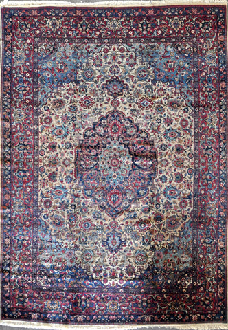 9.6x13.4 antique persian kerman #70952