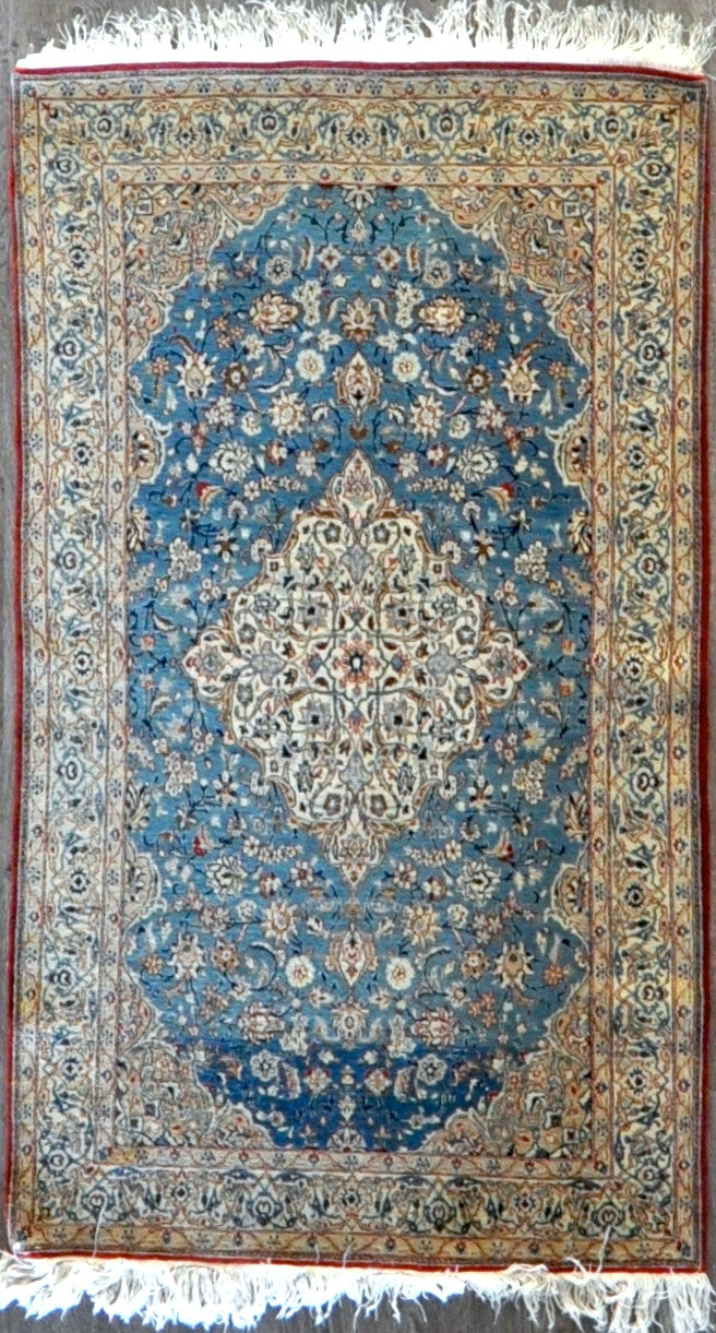 3.4x5.10 persian nain wool silk #34510