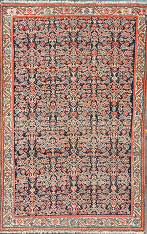 22752 Antique Malayer 4.4x6.9