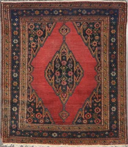 4.0x4.6 antique Persian malayer #62786 sold