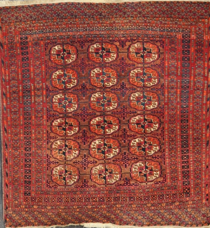 Rug Id: 2949 Antique Turkman 3.3x3.6