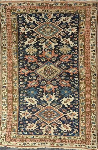 Rug Id: 34645 Antique Kazak 4.3x6.4