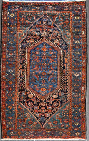4.0x6.6 antique persian hamadan #73730