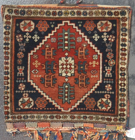 Antique gashghai pillow 1.10 x 1.11 wool #80232