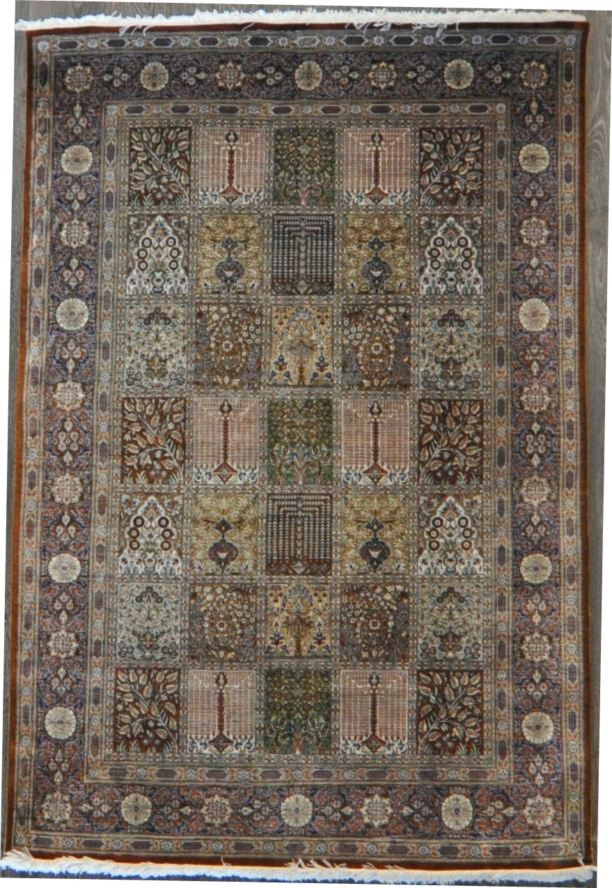 4.4x6.5 persian qum panel silk #96654
