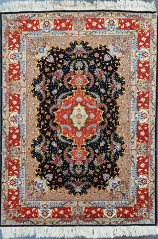 42001 Persian tabriz wool&Silk 5x6.9