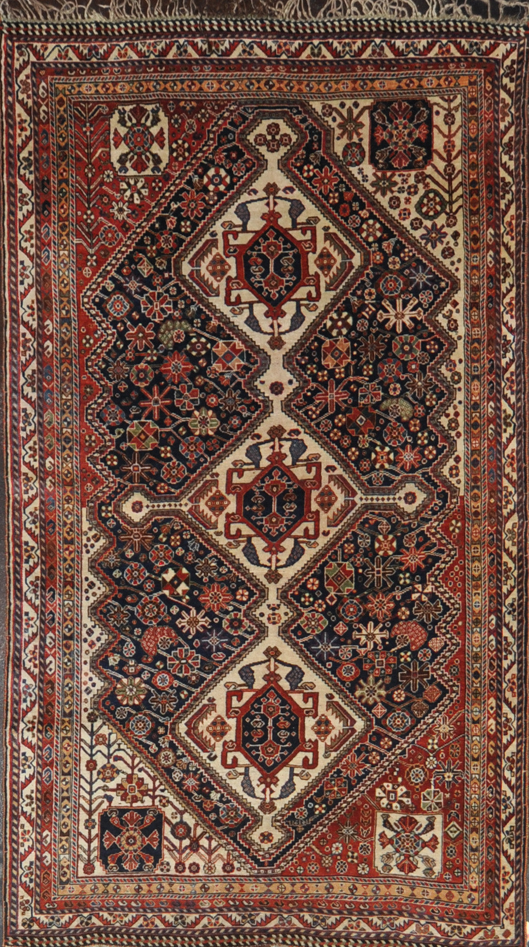 Rug Id: 4208 Antique Gashgaie 4.8x8.4