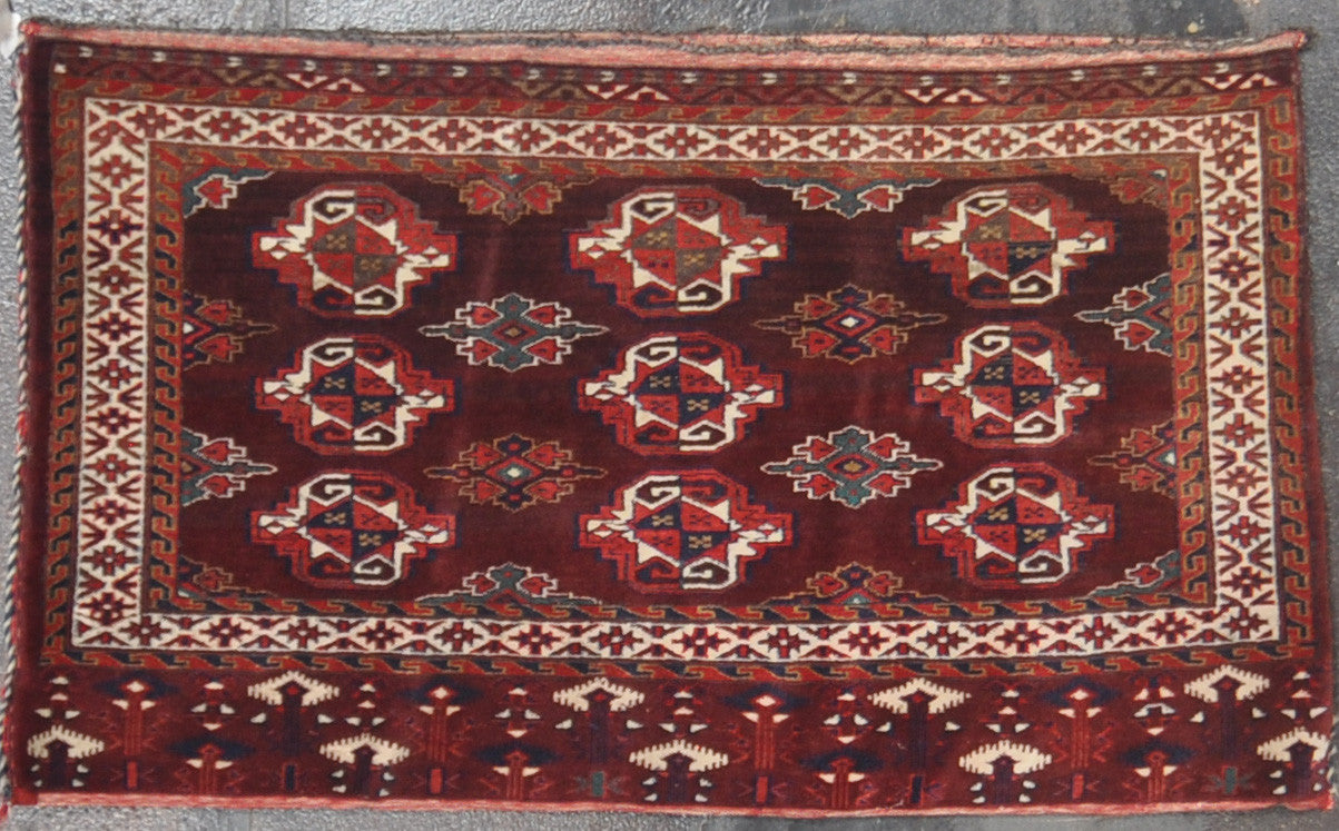 2.5x4.2  antique turkman wool #84079