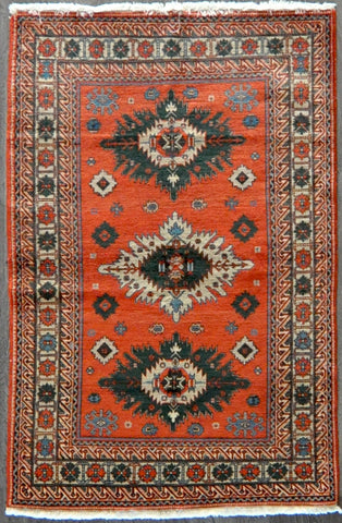 4.4x6.0 Persian antique kazak #48755