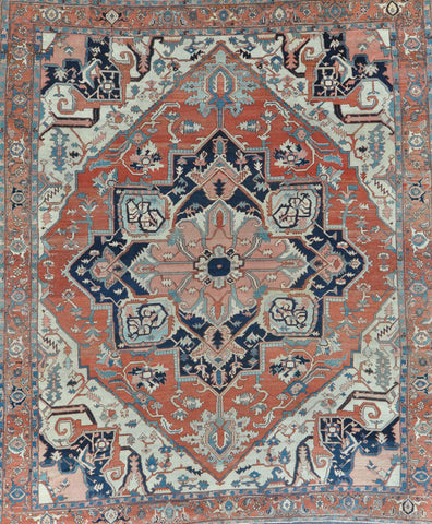 11x13 antique persian serapi Circa: 1880's #91665