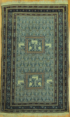 4.0x6.0 Persian antique shirvan #51846