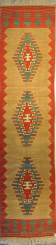 2.6x10.1 Turkish Kilim #41803
