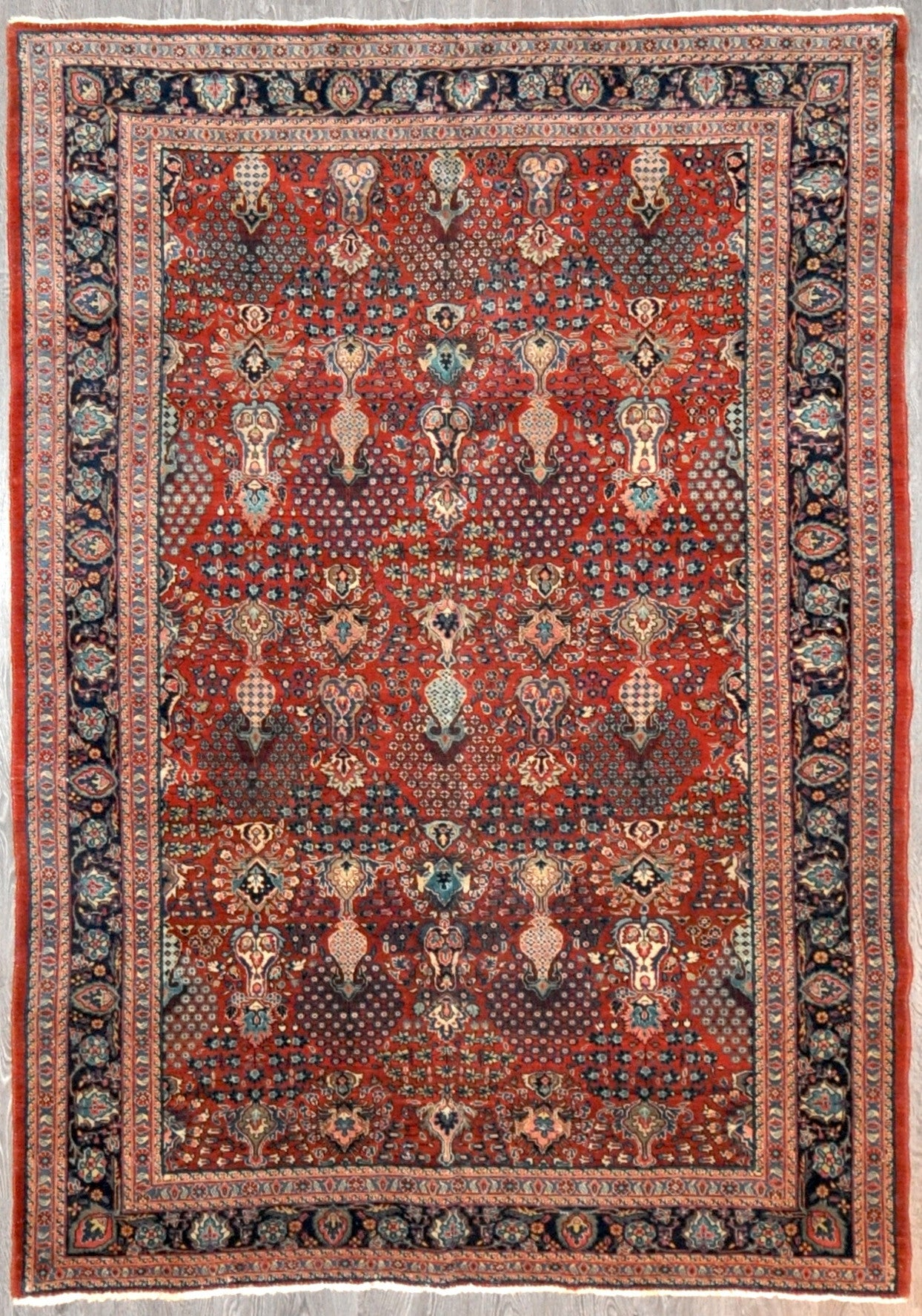 6.4x9.0 antique Persian sarouk #46269