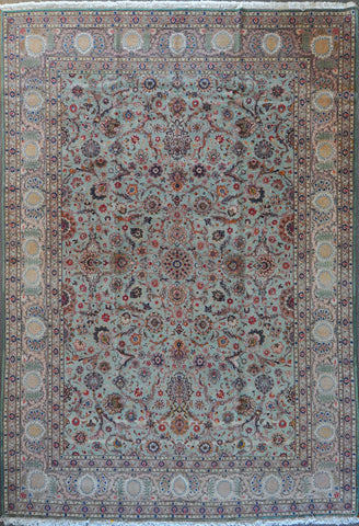 9.10x14.2 antique persian Kashan #46483