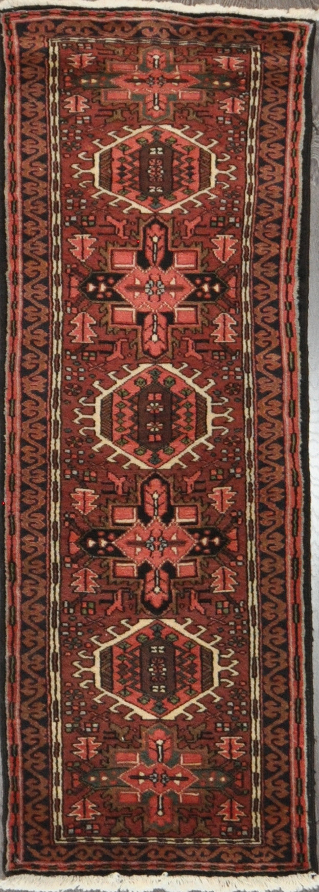 2.3x6.4 Persian heriz runner #17986