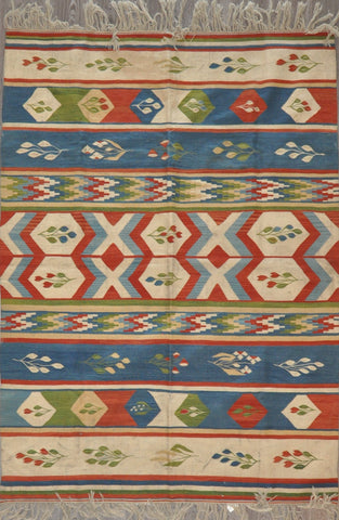 5.6x7.8 turkish kilim #39408