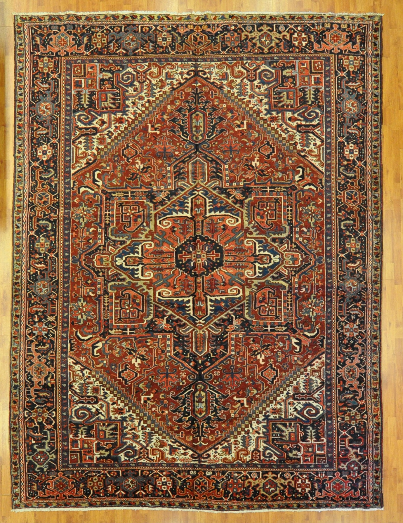 10.0x13.4 antique persian heriz #17223