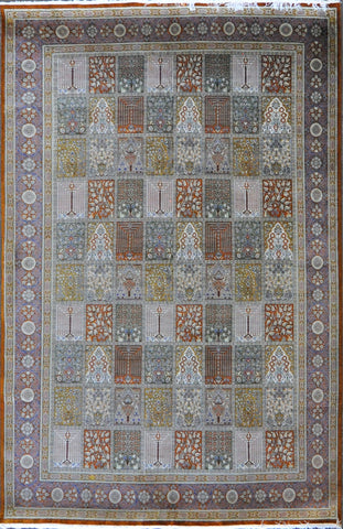 6.6x9.9 persian qum silk panel #52584